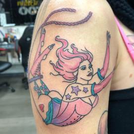 trapeze lady tattoo