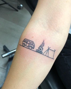 backpacker tattoo