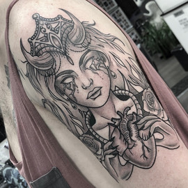 heart eater lady tattoo