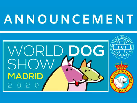 FCI WORLD DOG SHOW MADRID 2020