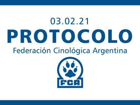 Protocolo para las exhibiciones caninas organizadas por la FCA y sus clubes afiliados.