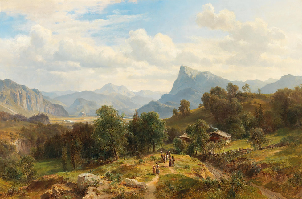 Ludwig_Halauska_-_View_of_the_Alps_from_