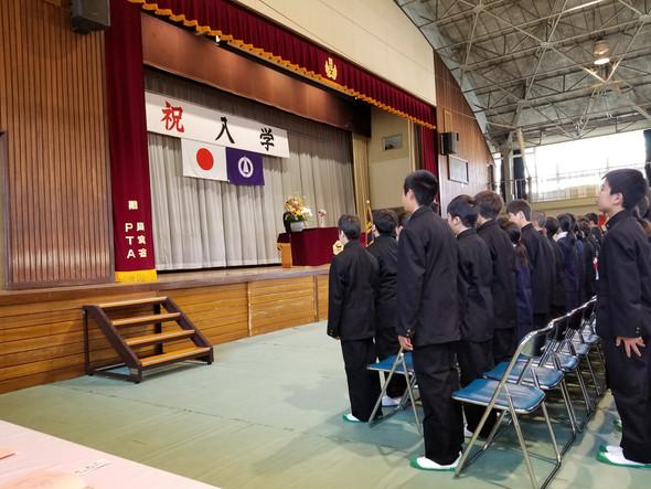 🌸間々田中学校入学式