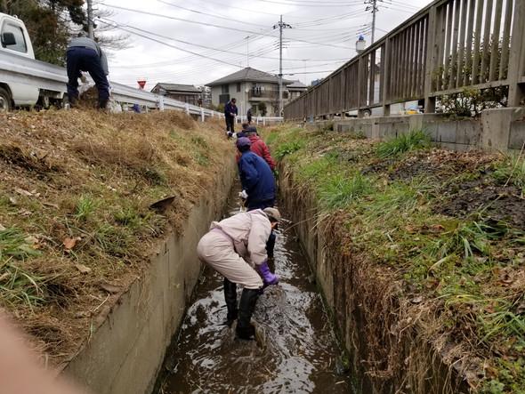 ○用水路清掃活動