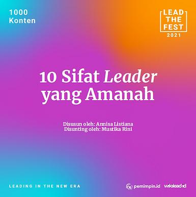 10 Sifat Leader  yang Amanah