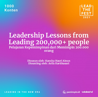 Leadership Lessons from  Leading 200,000+ people