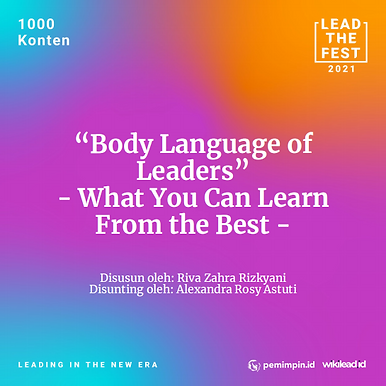 """""""Body Language of  Leaders"""" - What You Can Learn  From the Best -"""