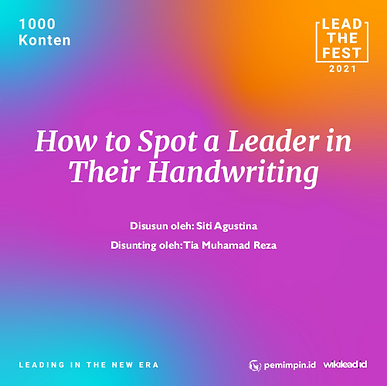 How to Spot a Leader in  Their Handwriting