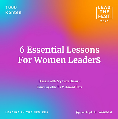 6 Essential Lessons  For Women Leaders