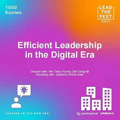 Efficient Leadership  in the Digital Era