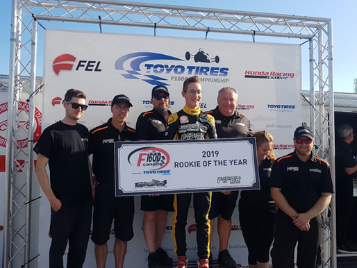 15-YEAR-OLD MACKENZIE CLARK WINS ROOKIE-OF-THE-YEAR HONOURS IN THE F1600 CANADA PROGRAM