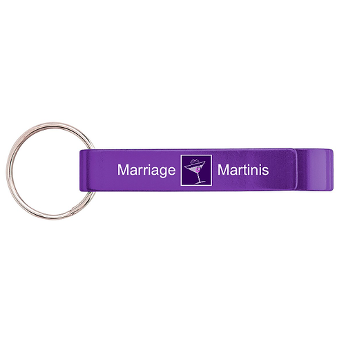 Marriage & Martinis Keychain Bottle Opener