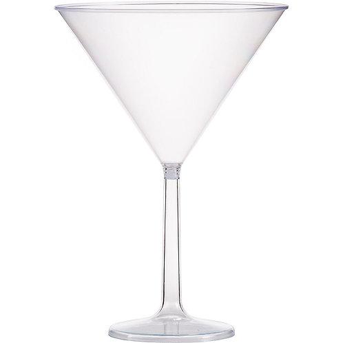 Large Plastic Martini Glasses 6ct