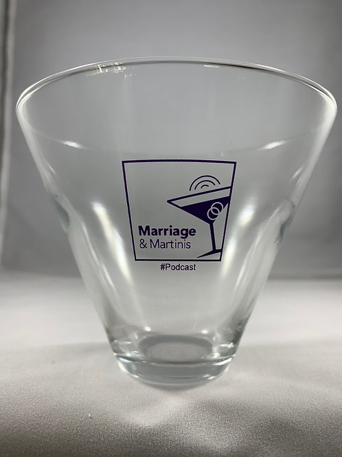 Marriage & Martinis Stemless Martini Glass