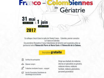 Premières Rencontres Franco-Colombiennes de Gériatrie les 31 mai et 1er juin à Bogota