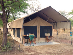 Camp in the middle of Serengeti