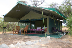 Luxury camp in the bush