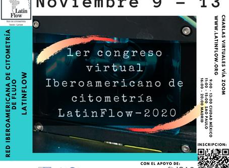 Estamos a un més del 1er Congreso Virtual Iberoamericano de Citometría de Flujo Latinflow 2020