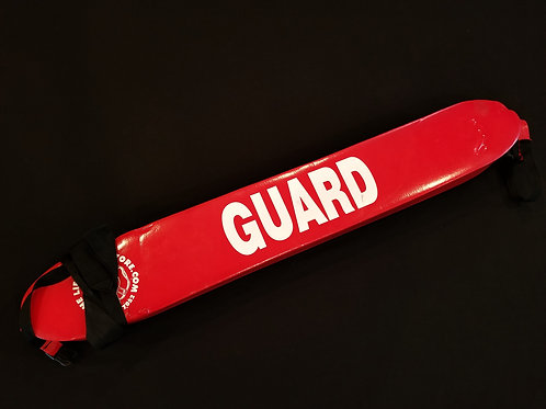 Rent a red and white lifeguard rescue tube or guard tube in Los Angeles California for pool safety