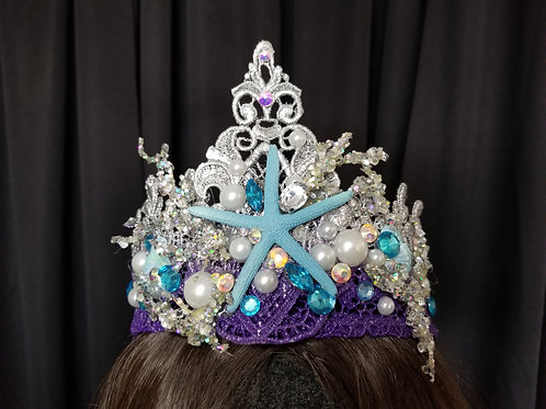 Silver Blue Purple Winter Ice Mermaid Crown Rental - Mermaid Costume Rental Los Angeles