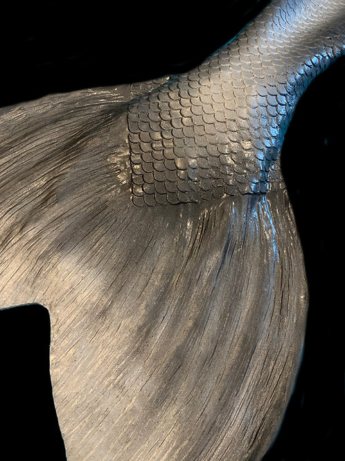 Silver and Charcoal Siren Mermaid Tail