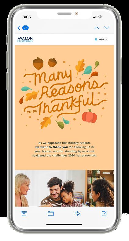 AV Holiday Email Thanksgiving Phone Mock