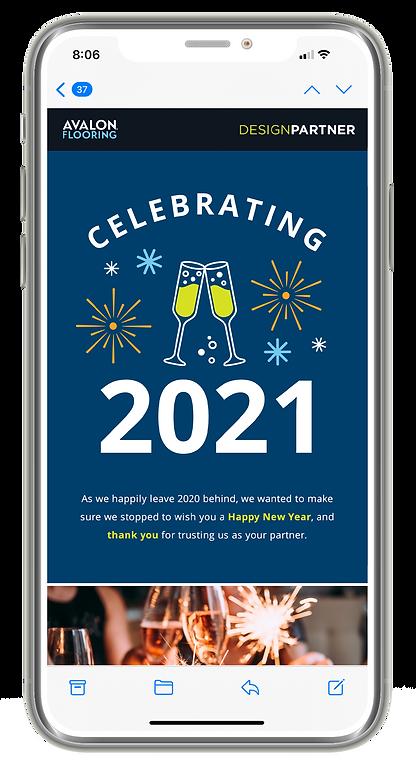 AV Holiday Email New Years Consumer Phon