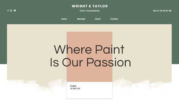 Business website templates – Color Experts