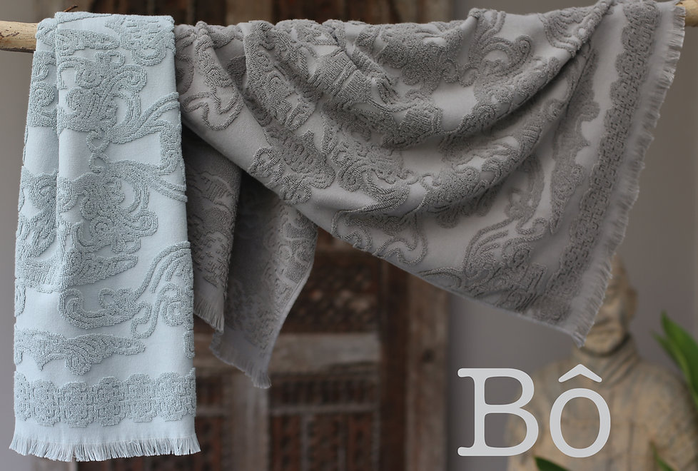 shows our grey and mint colours towel in medium