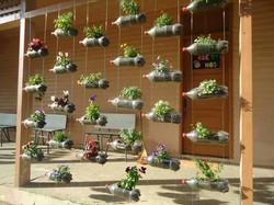 Jardim suspenso sustentável