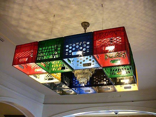 Luminária reciclável e moderna