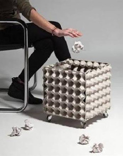 Lixo feito de Caixas