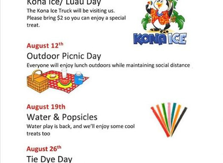 August is Right Around the Corner! And so is Fun!!