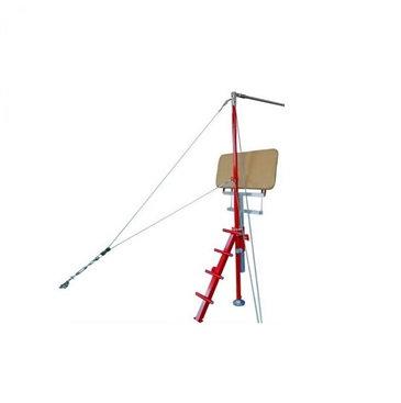 Adjustable height spotting platform for horizontal bar