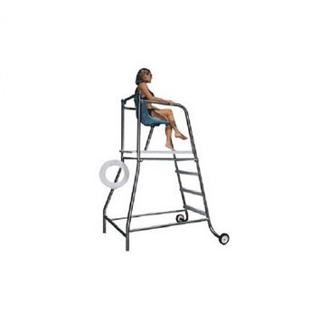 Movable lifeguard chair