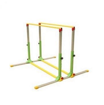 Happy kids parallel bars