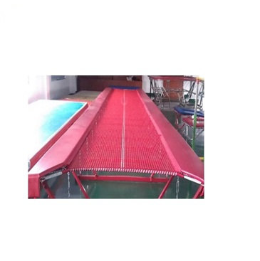 Jumping bed for tumbling track