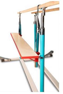 Adjustable  Height Spotting Platform for Parallel Bars