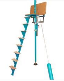 Higher spotting platform for horizontal bar
