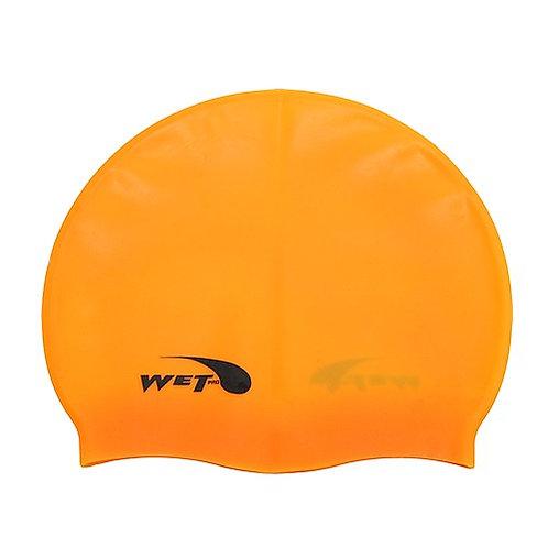 100% Junior Plain Silicone Caps Swim