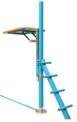 Adjustable height  Spotting Platform for rings