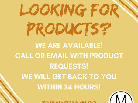 LOOKING FOR PRODUCTS?
