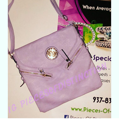 LARGE LAVENDER CROSSBODY BAG