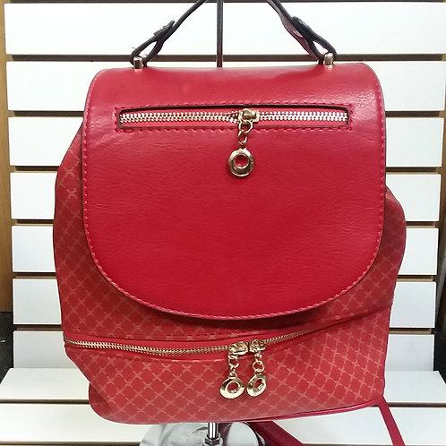 RUBY RED 1 SHOULDER BACKPACK/BUCKET BAG