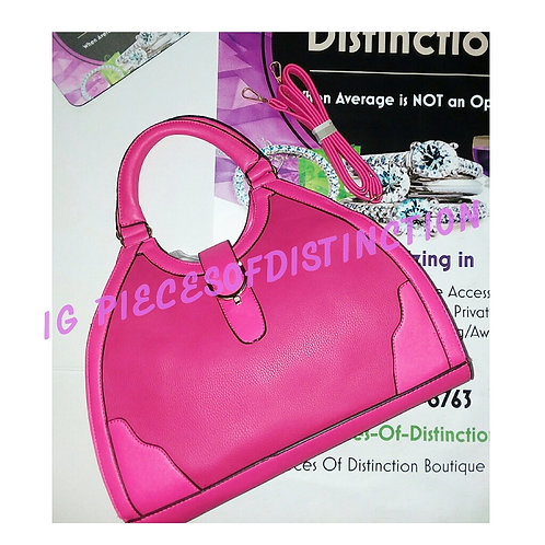 FUSCHIA-O HANDLE HANDBAG