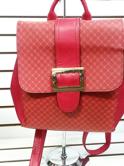 RUBY RED GOLD BUCKLE BOOKBAG