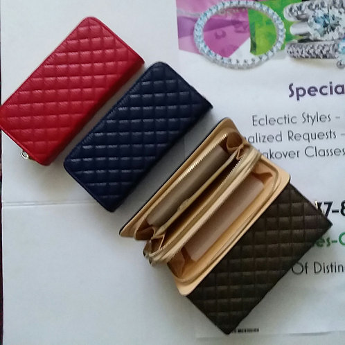 DOUBLE SIDED QUILTED WALLET