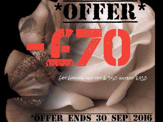 September offer! Come and get some quality ink done