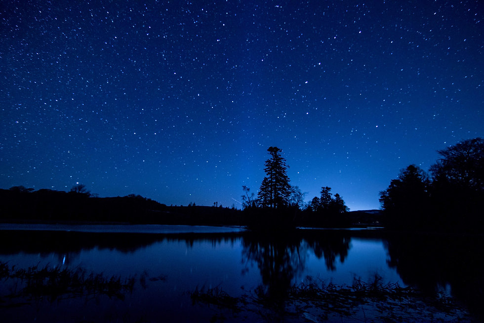 Fasque Lake at night Still Stars