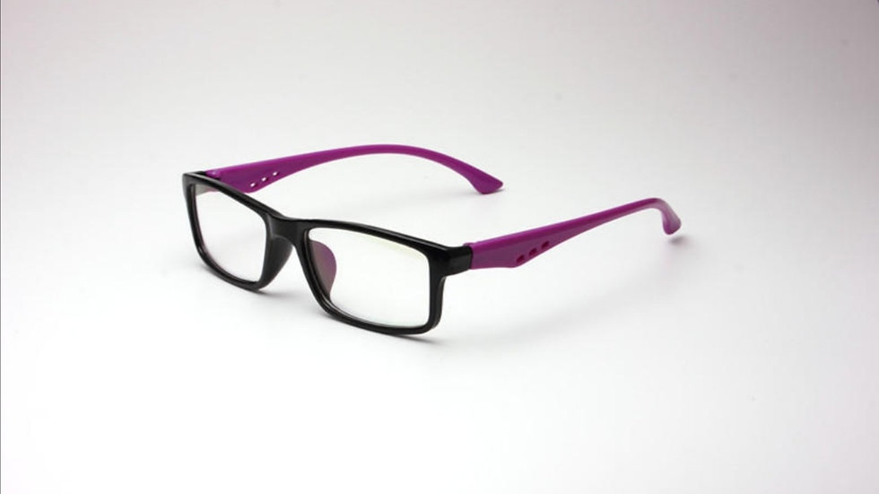 Migraine Glasses Black Purple